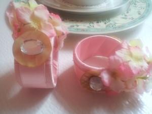 Serviettenringe / napkin rings Hortensia