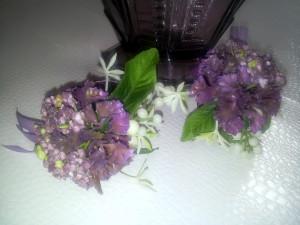Serviettenringe violett / napkin rings violet