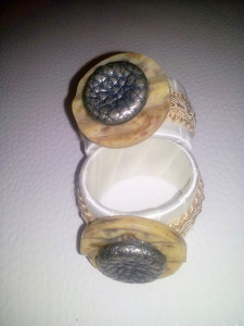 Serviettenringe / napkin rings cream