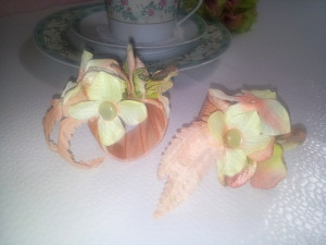 Serviettenringe / napkin rings soft apricot
