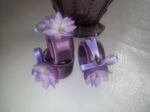 Serviettenringe Frühling violett  / napkin rings soring violet