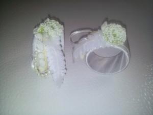 Serviettenringe weiße Perle / napkin rings white pearl
