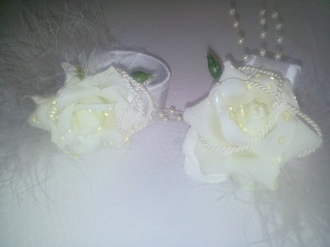 Serviettenringe weiße Rose / napkin rings white rose