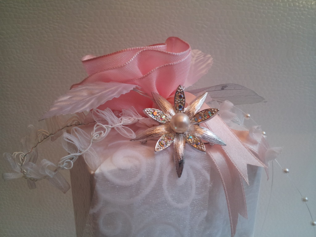 Verpack. Vintage hochform. m. Stern - white & rosé 6  PIN BLOG