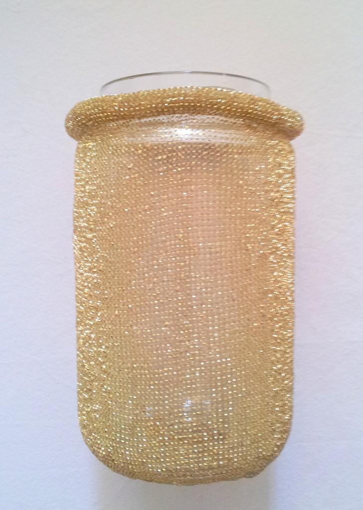 Marmeladenglas, flexibles Lurexband / jelly glass, flexible lurex ribbon
