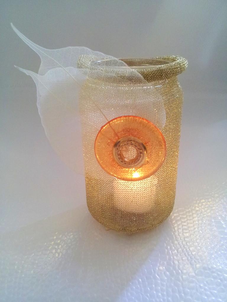 beleuchtet - Glas m.Lurexband