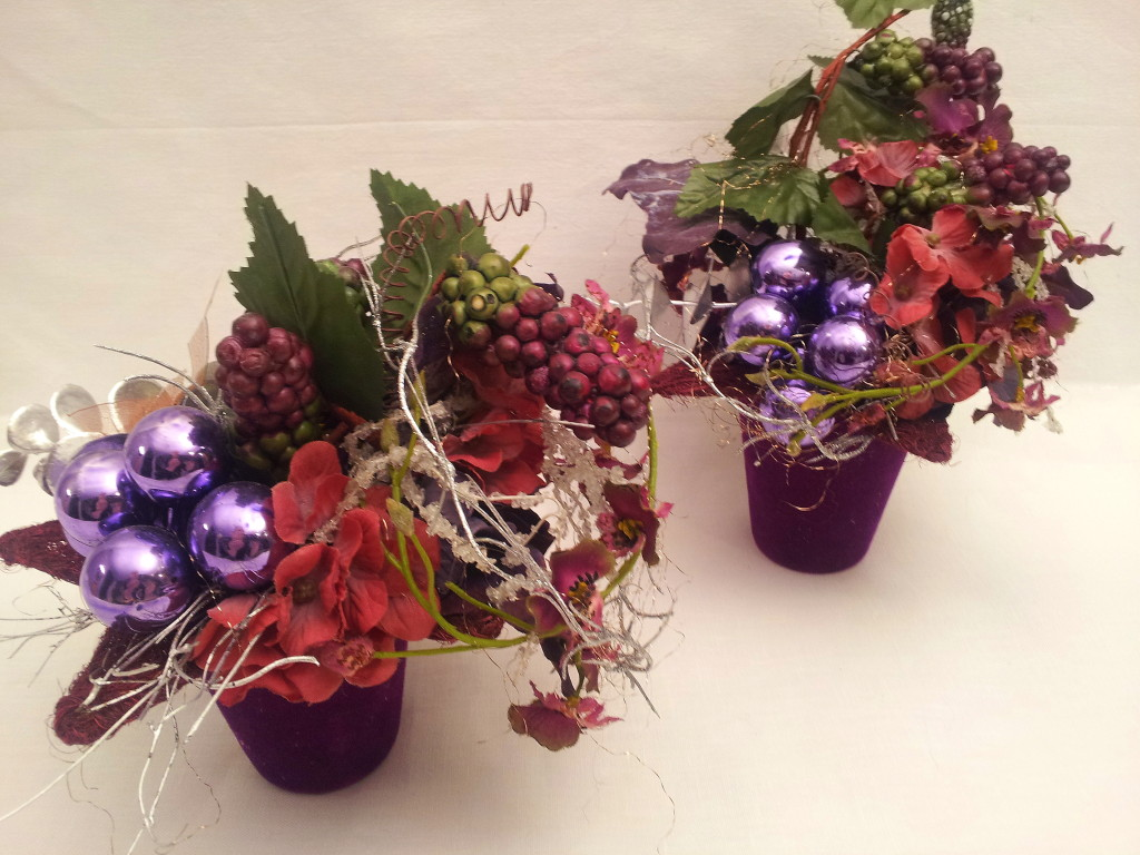 Christmas decor  -  pink, purple, silver