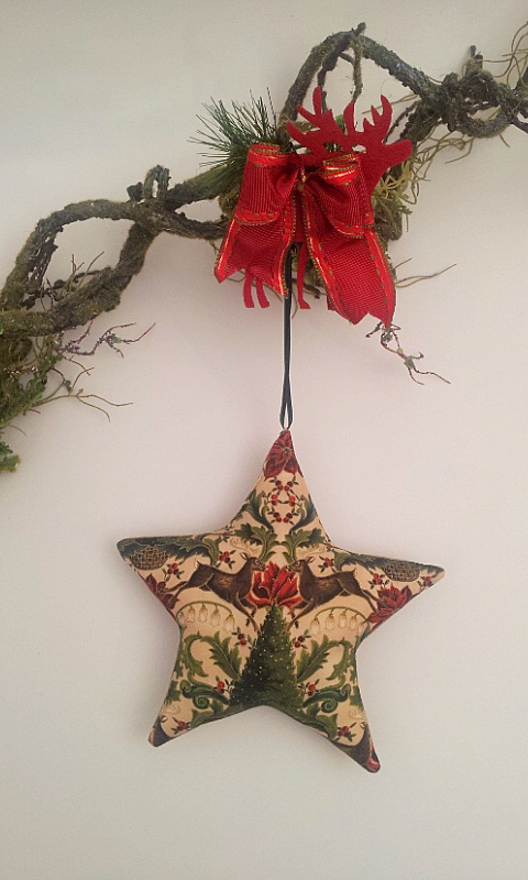 Christmas star with deer deco 1