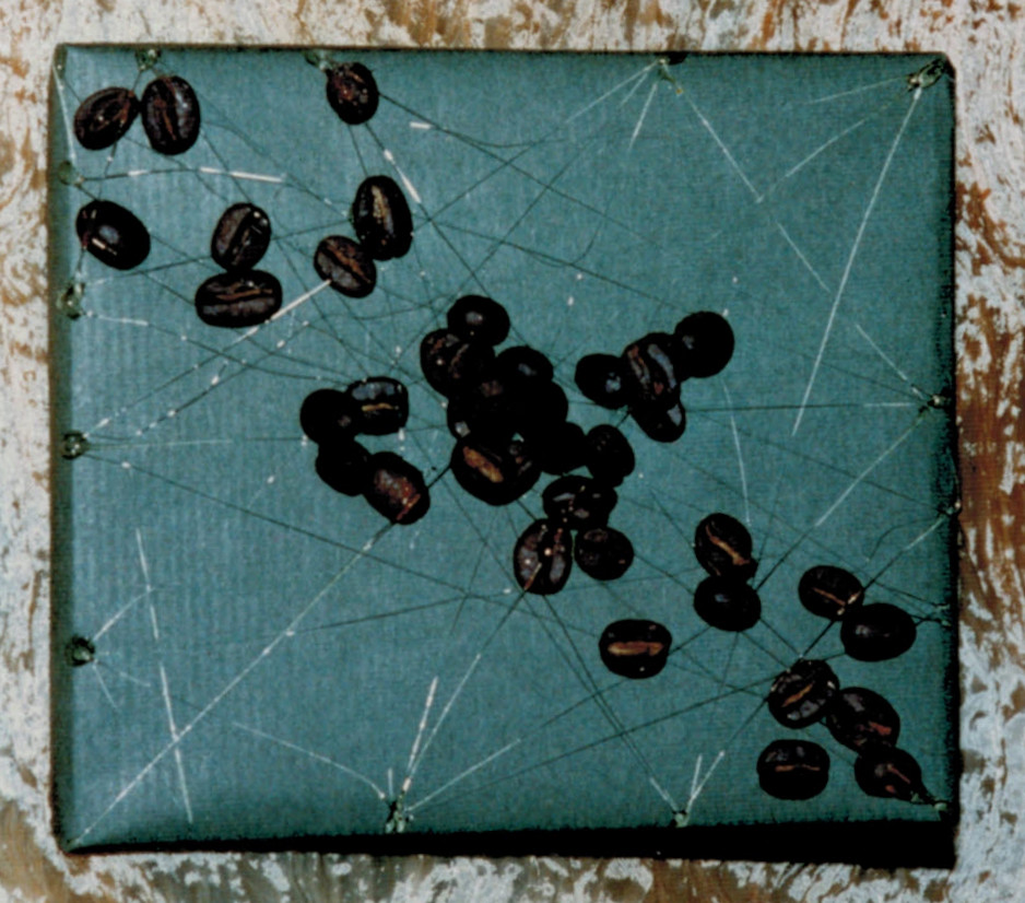 very easy - coffee beans & silver wire