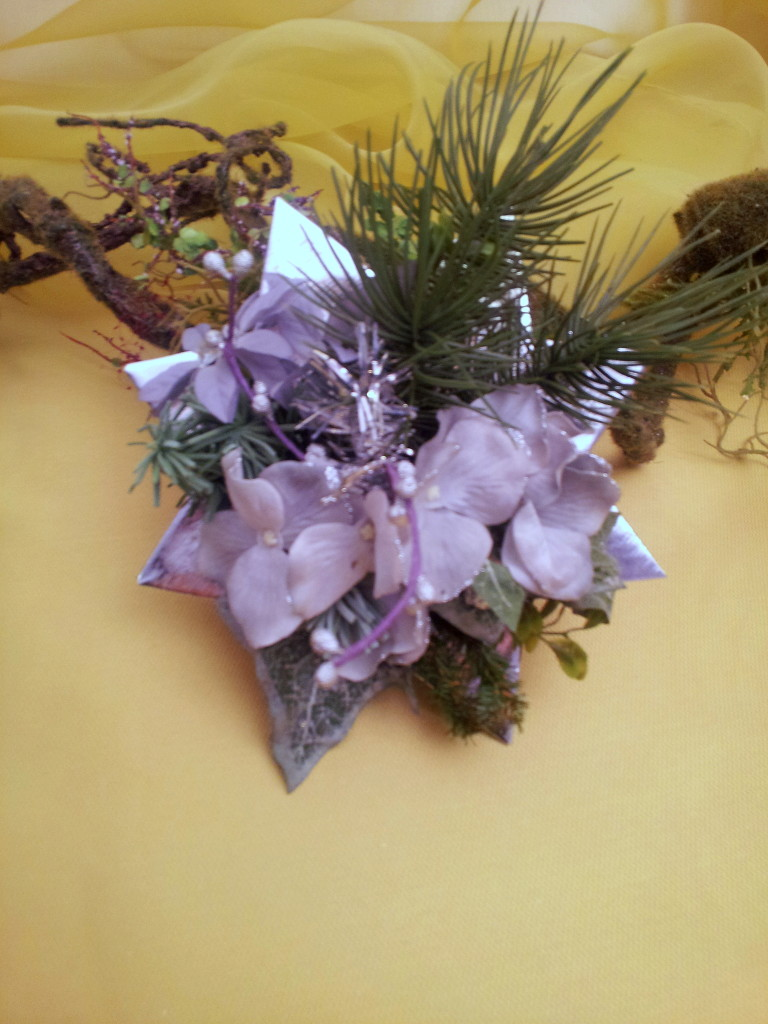 star with silver-purple decor