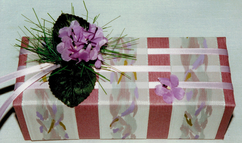 woven ribbons, silk violets & grass