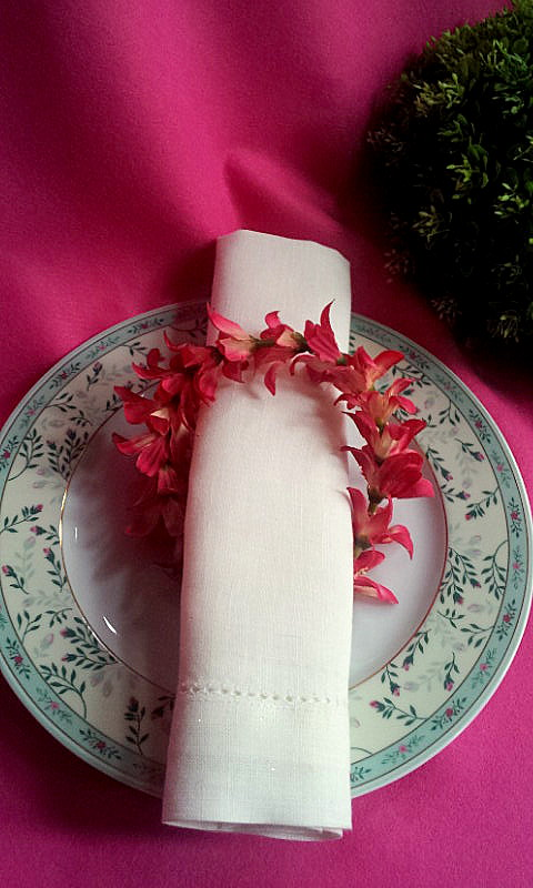 napkin decor pink spring
