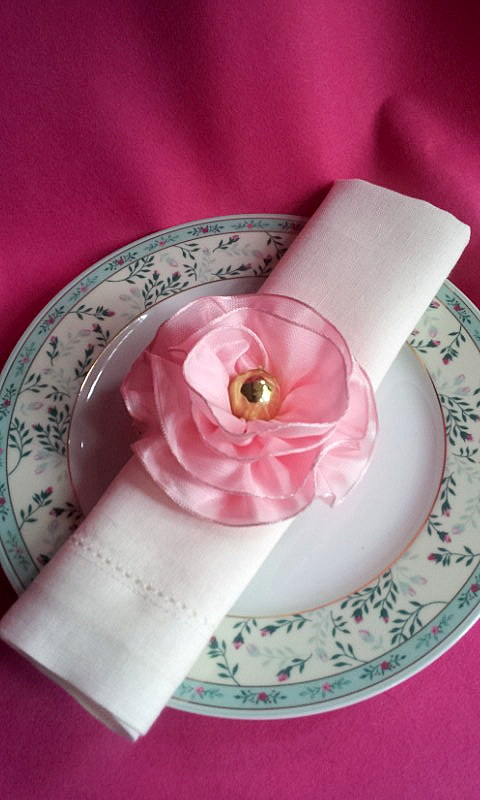 napkin decor rosette