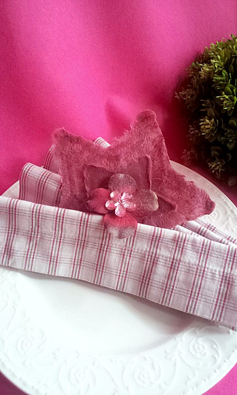 napkin deco star and flowers 1