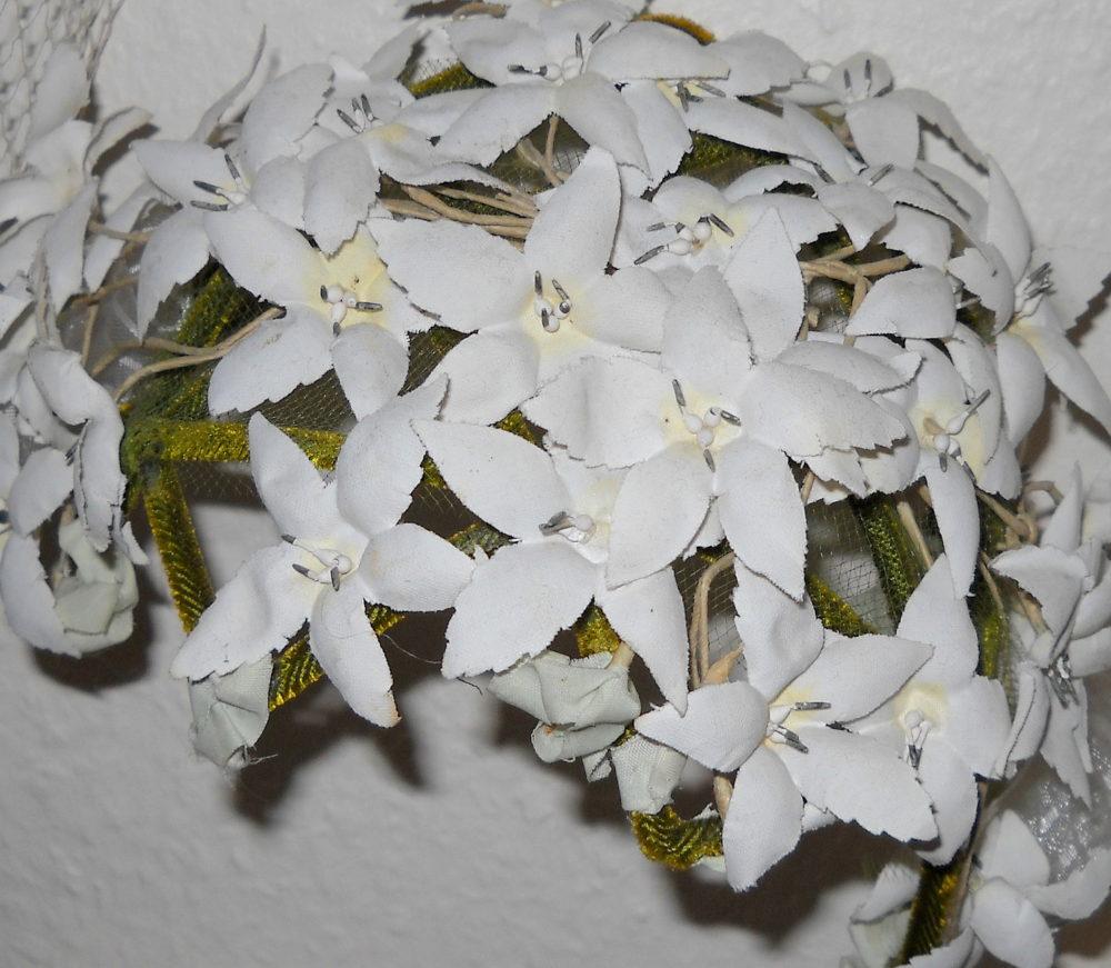 11 Hut, viele weiße Blüten, USA