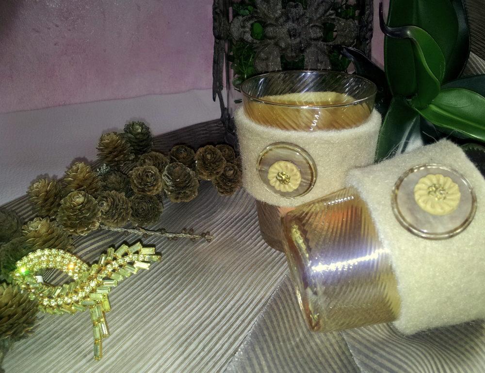 Kerzengläser m.Filzmanschette BLOG